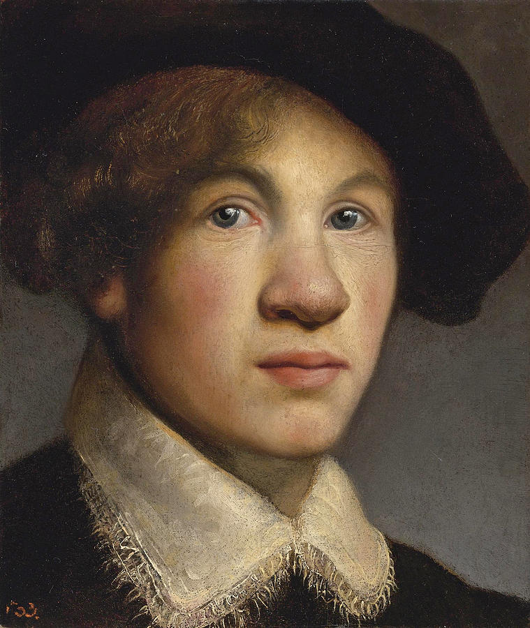 759x900 Tronie Of A Young Man Possibly A Portrait Of The Young Rembrandt - Tronie Painting