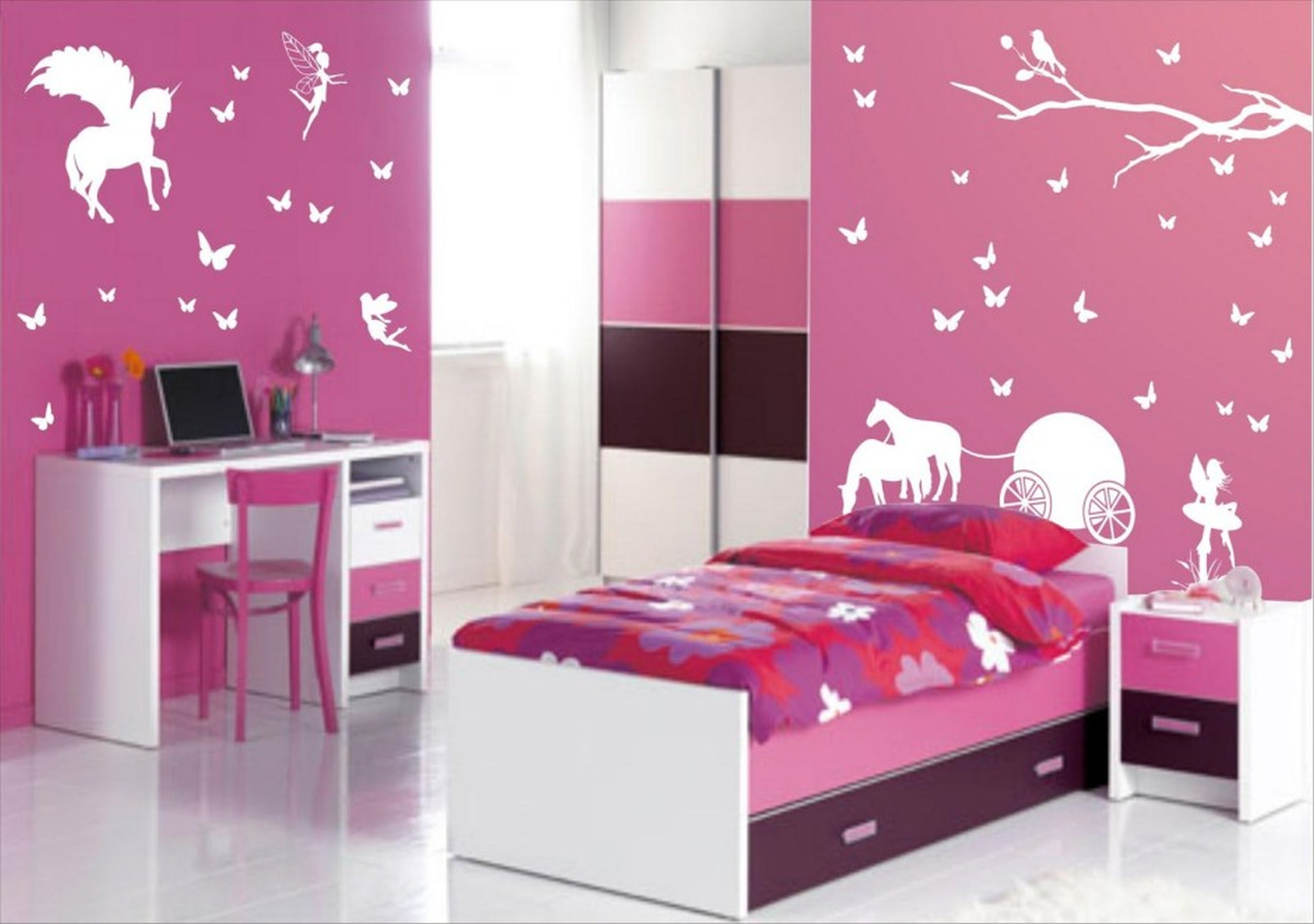 Wall Painting For Girls at PaintingValley.com | Explore ...