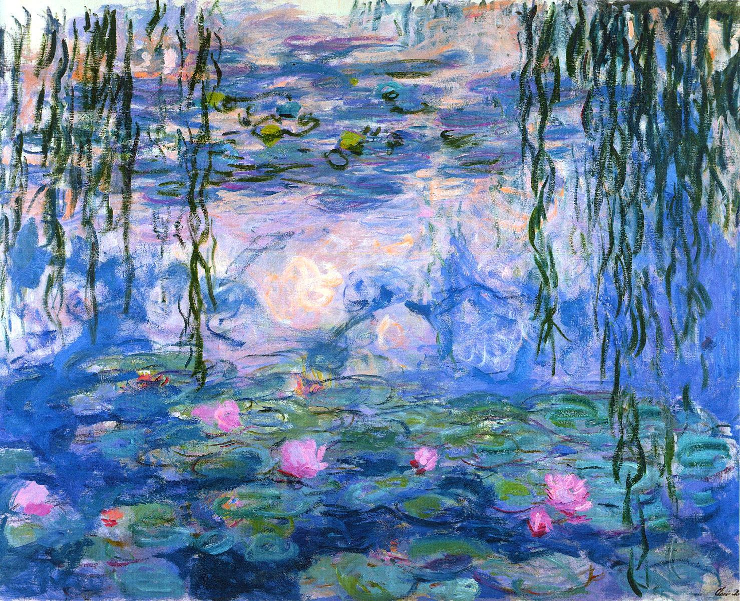 1478x1200 Water Lilies (1919) Claude Monet Alphabel Art - Water Lilies Painting