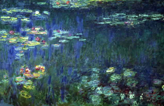 636x411 Webmuseum Monet, Claude Waterlilies - Water Lilies Painting
