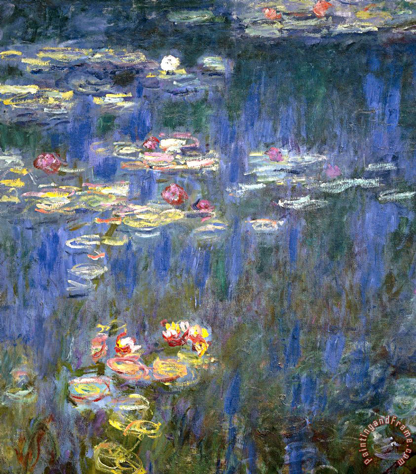 843x960 Claude Monet Water Lilies Painting - Water Lilies Painting