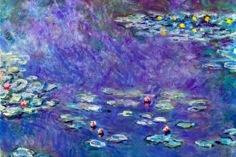 473x315 Claude Monet Water Lily Pond 3 Prints By Claude Monet - Water Lilies Painting