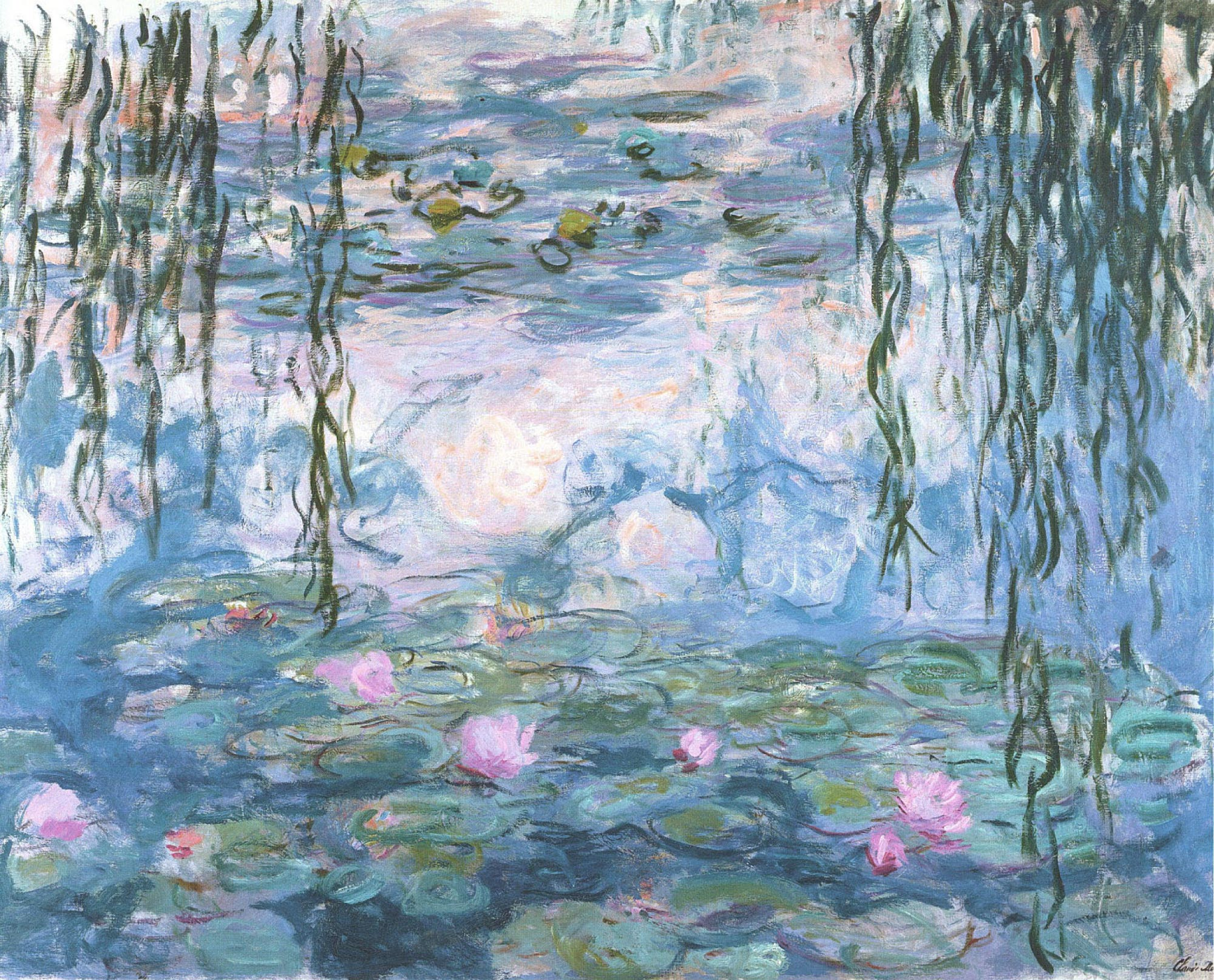 2000x1614 Interior Inspiration Monet's Water Lilies - Water Lilies Painting