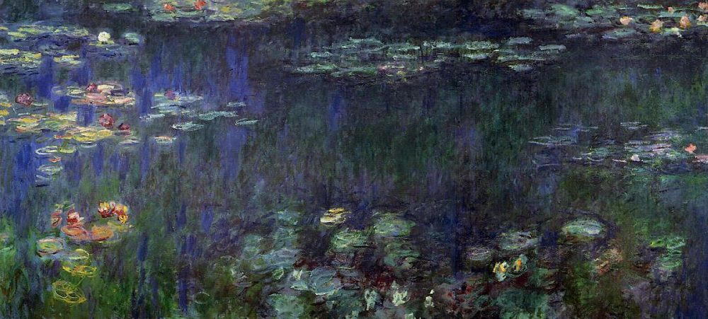 1000x451 Water Lilies, Green Reflection, 1914 17 By Claude Monet - Water Lilies Painting
