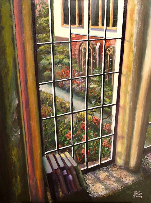 486x650 View From The Abbey Window (Painting) By Kellam Brown - Window View Painting
