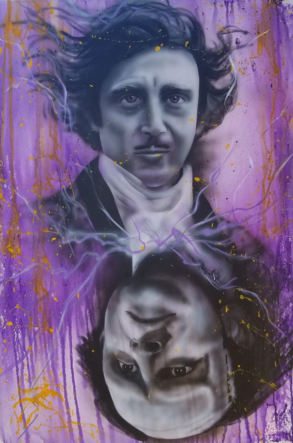 1000x1510 Young Frankenstein Phantasy Realms - Young Frankenstein Painting