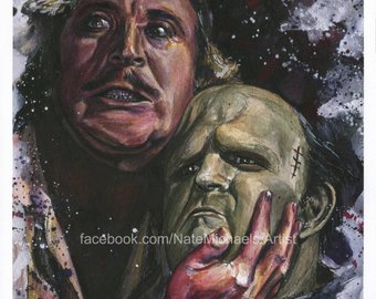 340x270 Gene Wilder Young Frankenstein Fine Art Painting - Young Frankenstein Painting