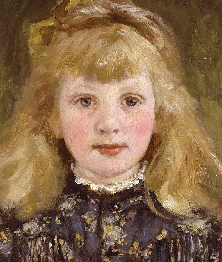 763x900 Portrait Of A Young Girl Painting By James Charles - Young Girl Painting