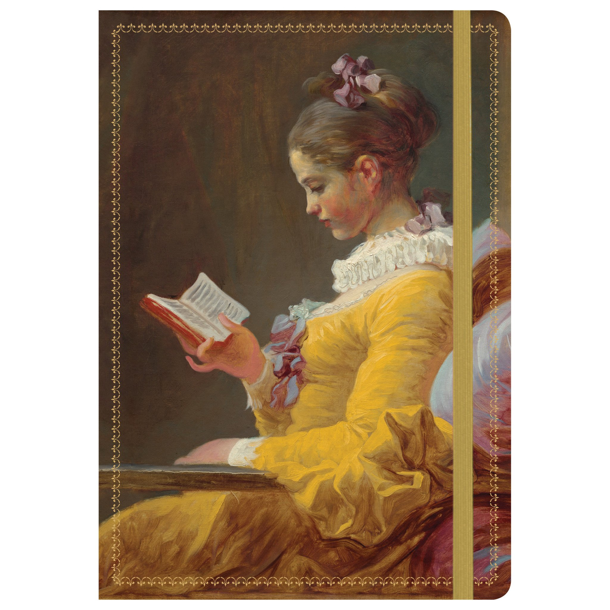 2048x2048 Nga Fragonard Young Girl Reading Gilded Journal Galison - Young Girl Reading Painting