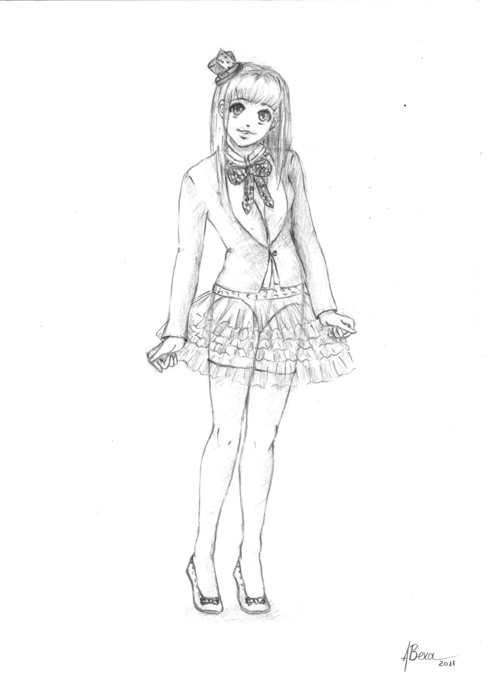 1700x2338 anime sketches in pencil full body anime girl full body drawing anime girl body