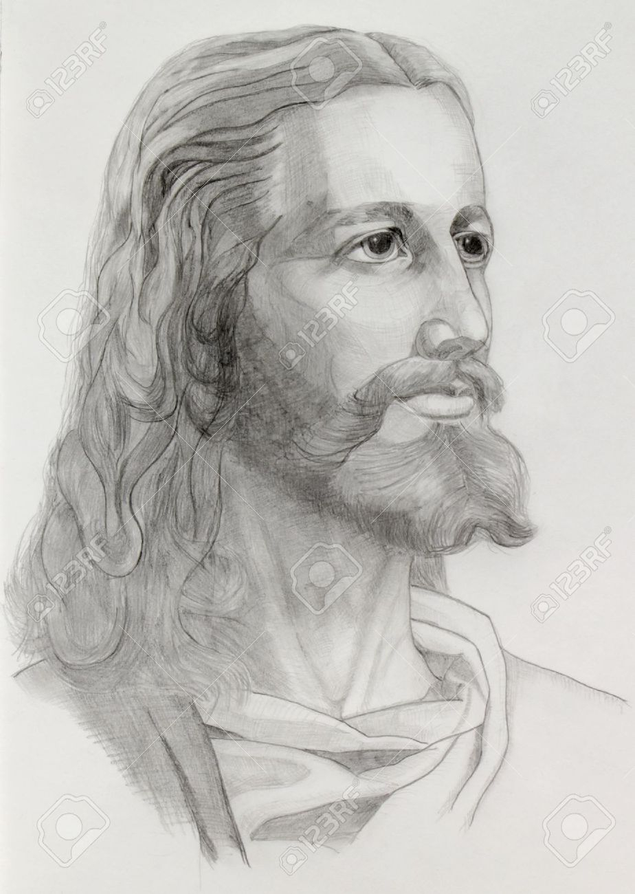 c2d5d4f53 Black Jesus Sketch at PaintingValley.com | Explore collection of ...