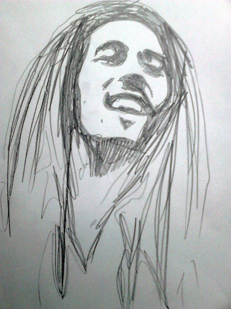 Bob marley sketch at paintingvalley com explore collection of bob