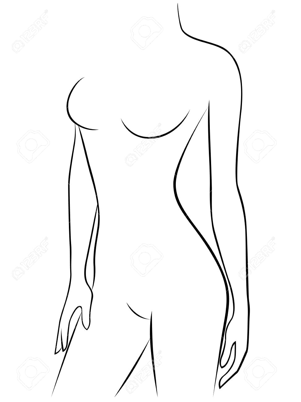 female body sketch outline at paintingvalley com