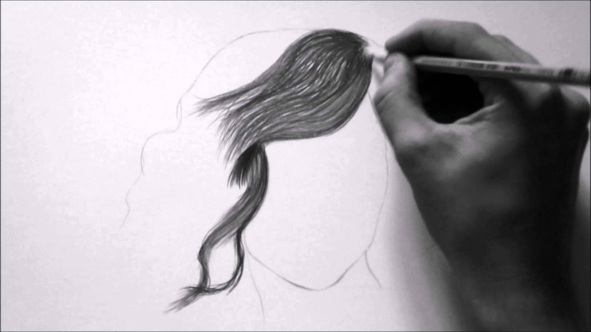 Hair pencil sketch at paintingvalley com explore collection of
