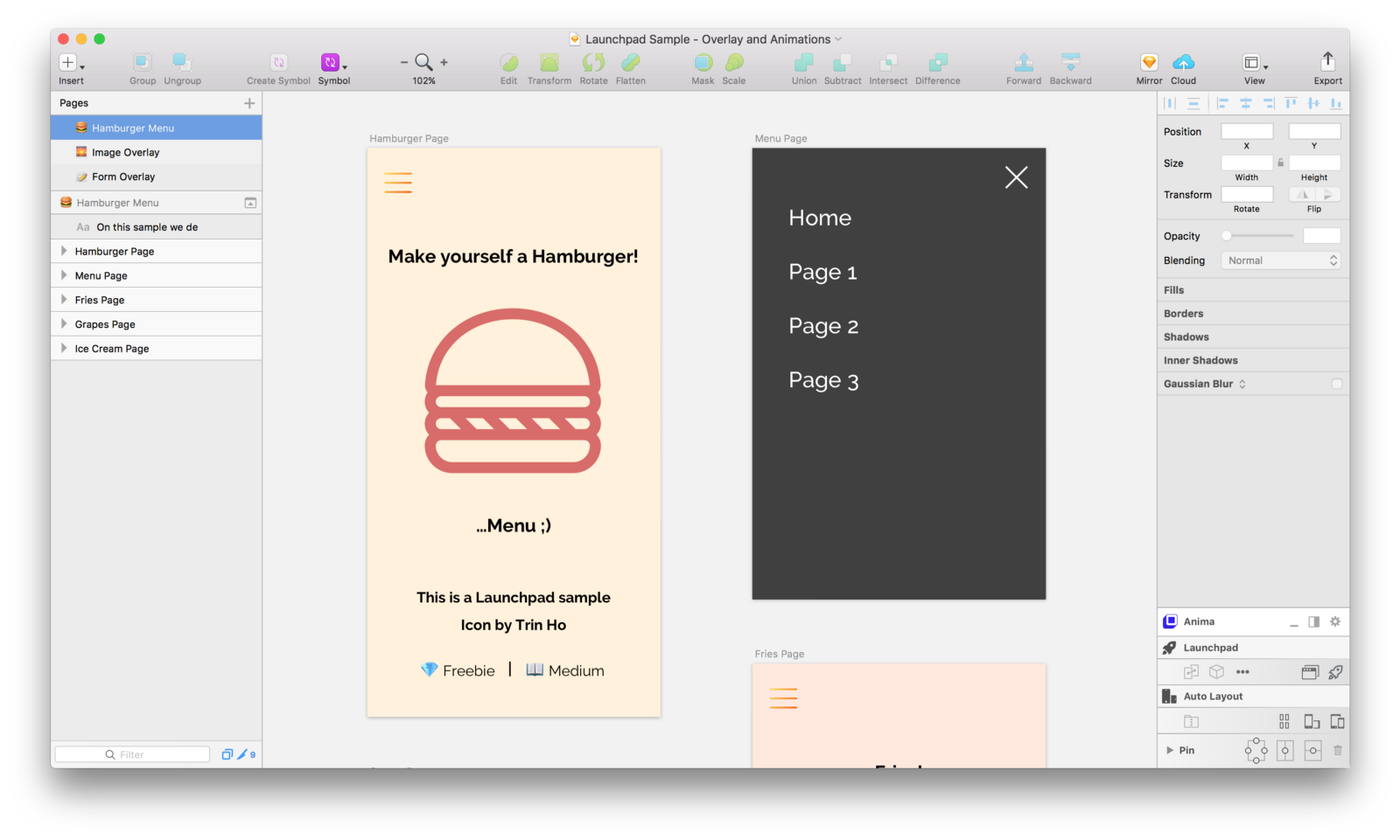 1600x961 Add Modal Forms, Full Screen Photos Overlay And Hamburger Menu To - Launchpad Sketch