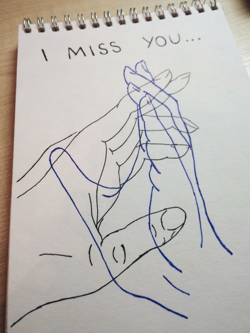 852x1136 art love drawing illustration sketch hands i miss you