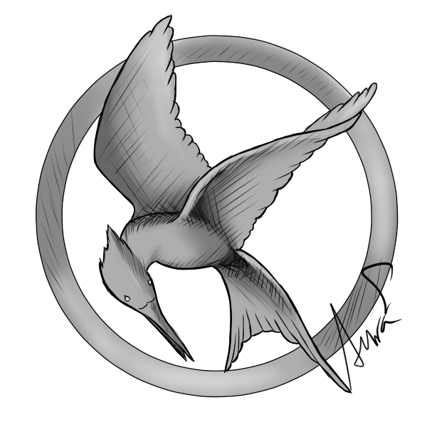 600x600 Mockingbird Drawing - Mockingjay Sketch