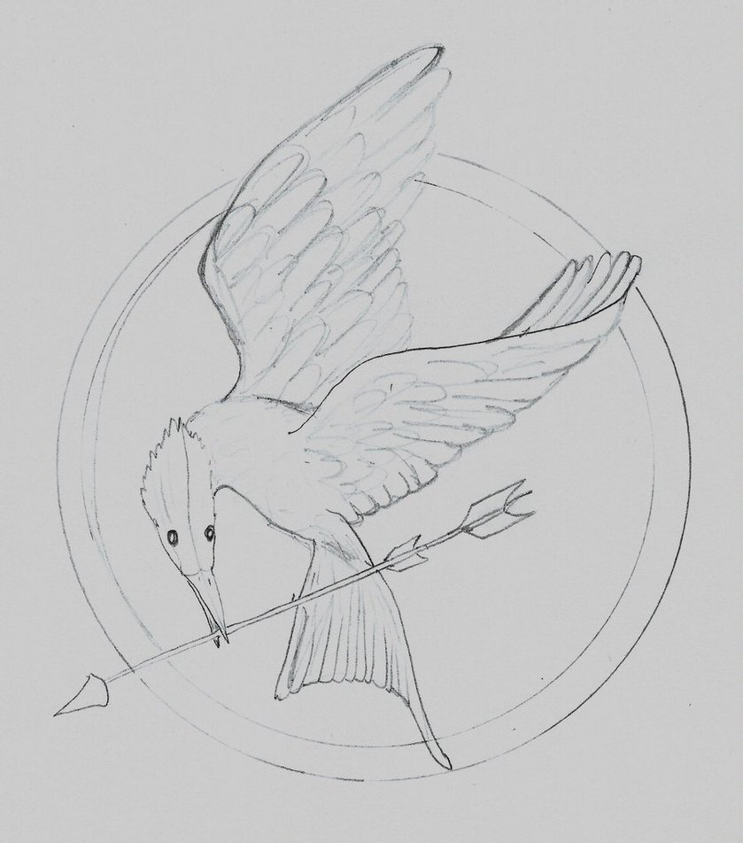 839x952 Mockingjay - Mockingjay Sketch