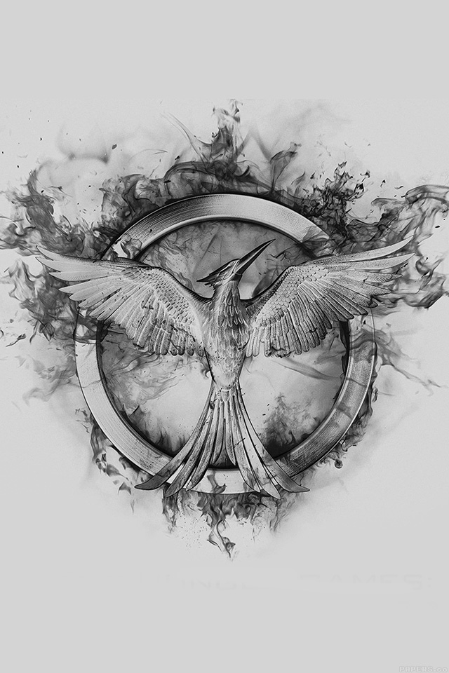 640x960 Iphone Wallpaper Ag76 Hunger Games Mockingjay - Mockingjay Sketch