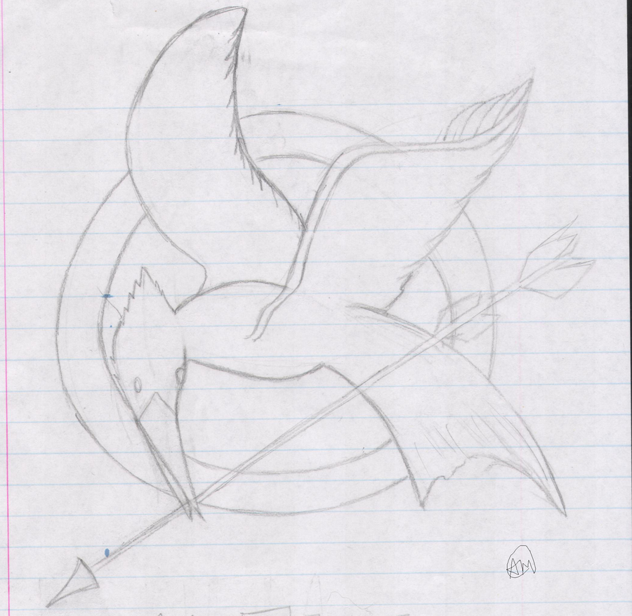 900x876 Mockingjay Sketch By Souleatingpuppet - Mockingjay Sketch