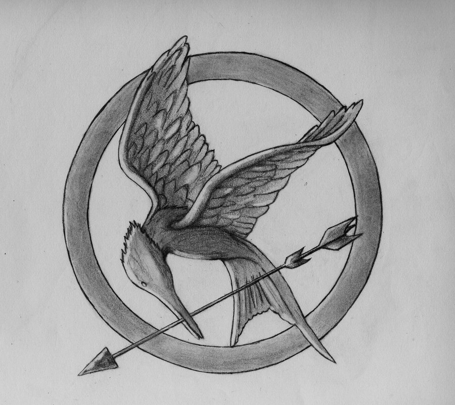 900x801 Mockingjay By Darkknights35 - Mockingjay Sketch