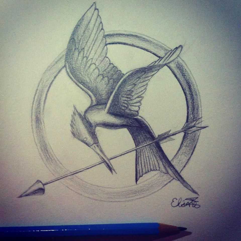 960x960 Mockingjay Drawing Lt3 Drawing Ideas Mockingjay - Mockingjay Sketch
