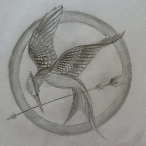 611x611 Photos From A Sketch Of The - Mockingjay Sketch