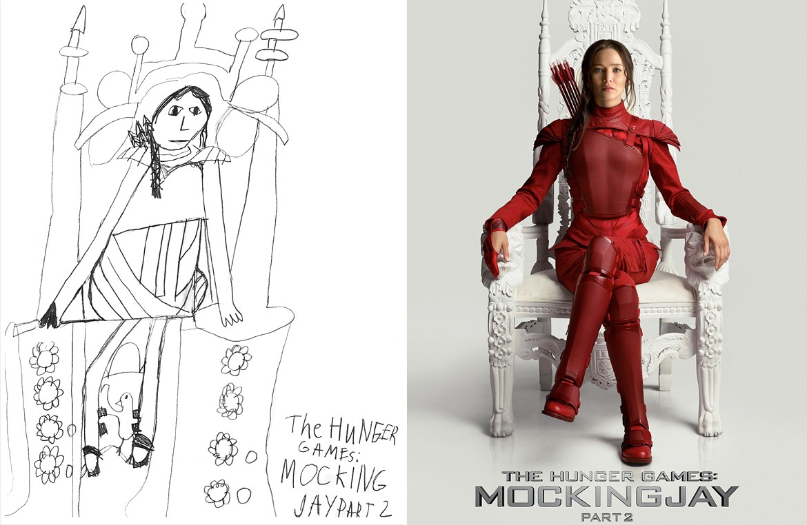 1170x762 The Hunger Games Mockingjay Part 2 Movie Poster Drawing Miss - Mockingjay Sketch
