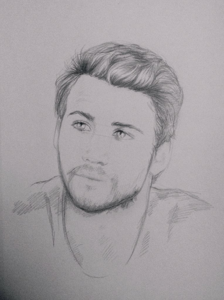 764x1024 Gale Liam Hemsworth The Hunger Games Sketch Drawing Pencil - Mockingjay Sketch