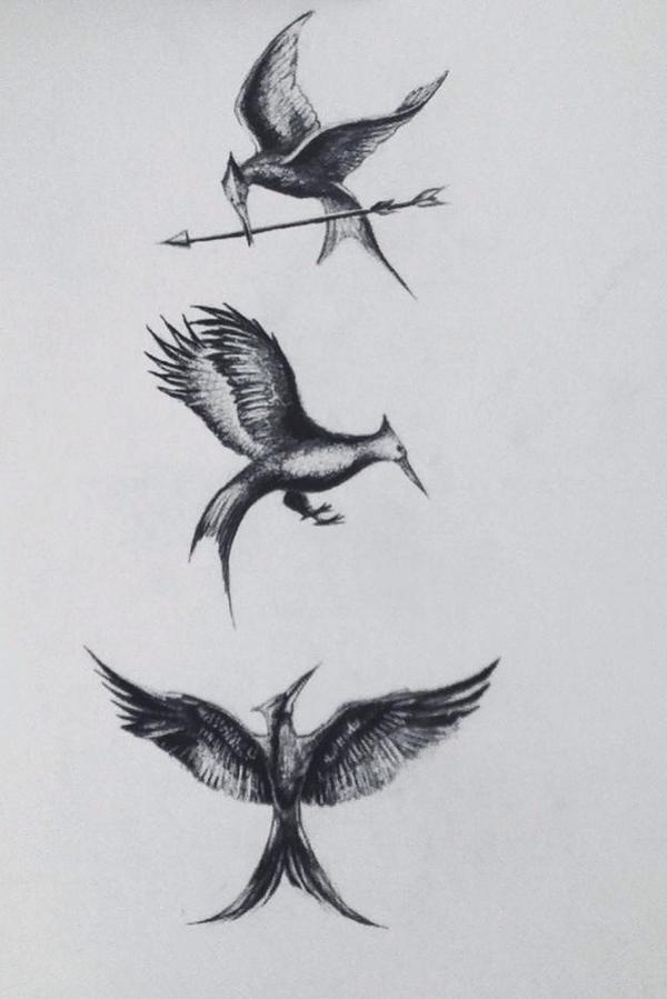 600x899 The Hunger Games On Twitter Lovely Job! Rt @oh Jlawrence - Mockingjay Sketch
