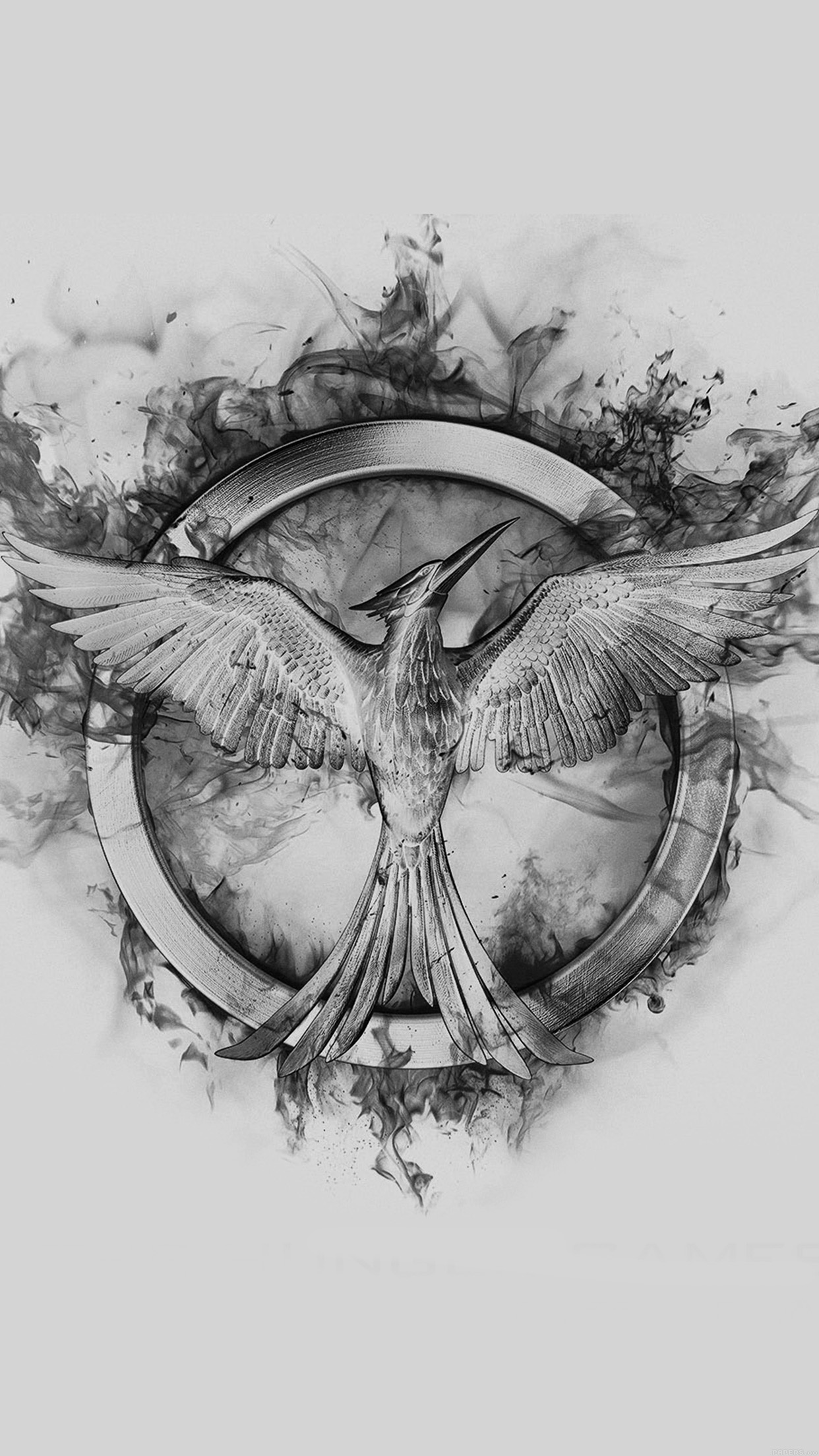 1242x2208 Iphone7 Wallpaper Ag76 Hunger Games - Mockingjay Sketch