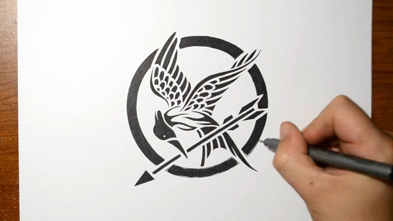 1280x720 Hunger Games - Mockingjay Sketch