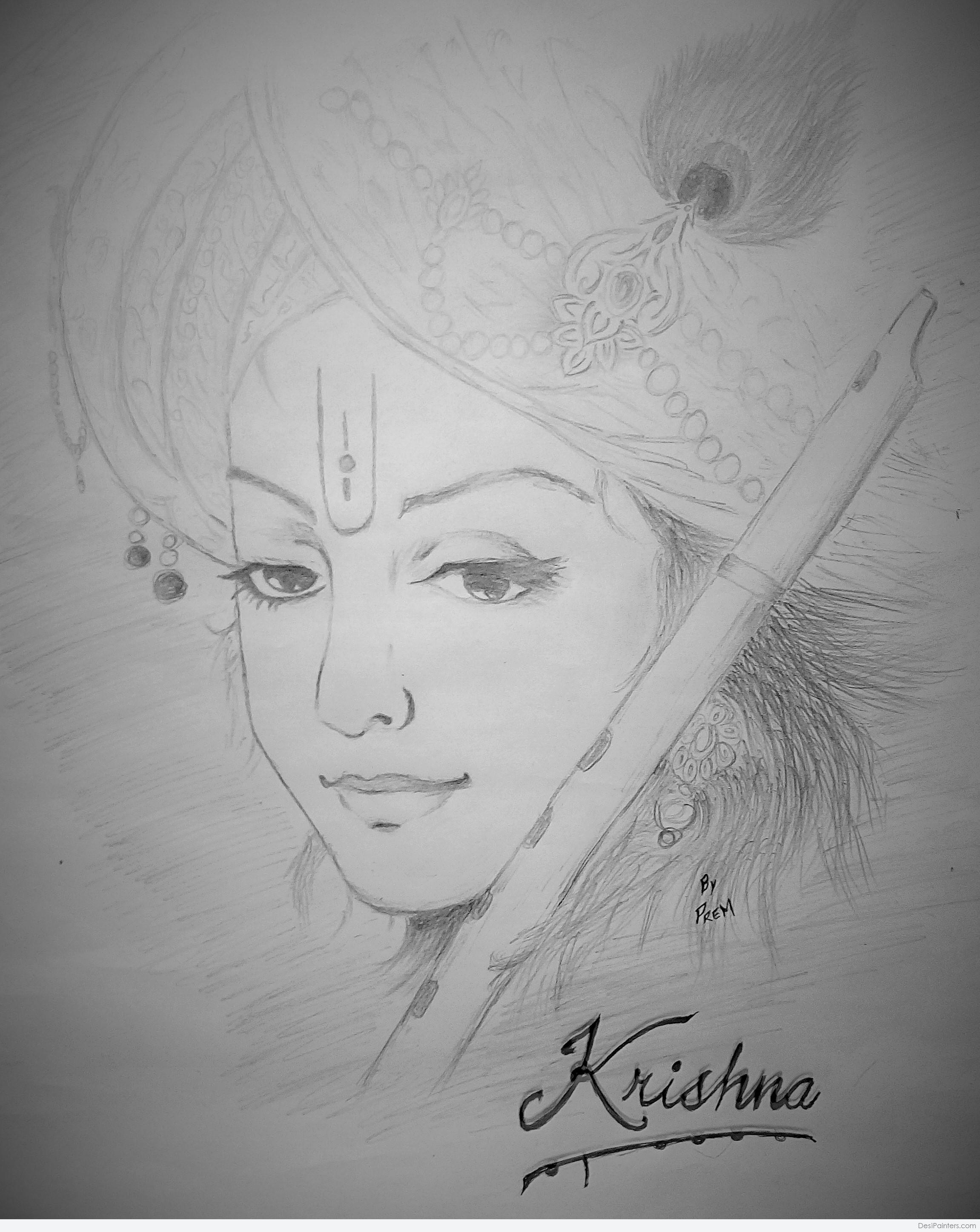 2302x2894 krishna pencil sketch step by step easy pencil drawings of lord pencil sketch step