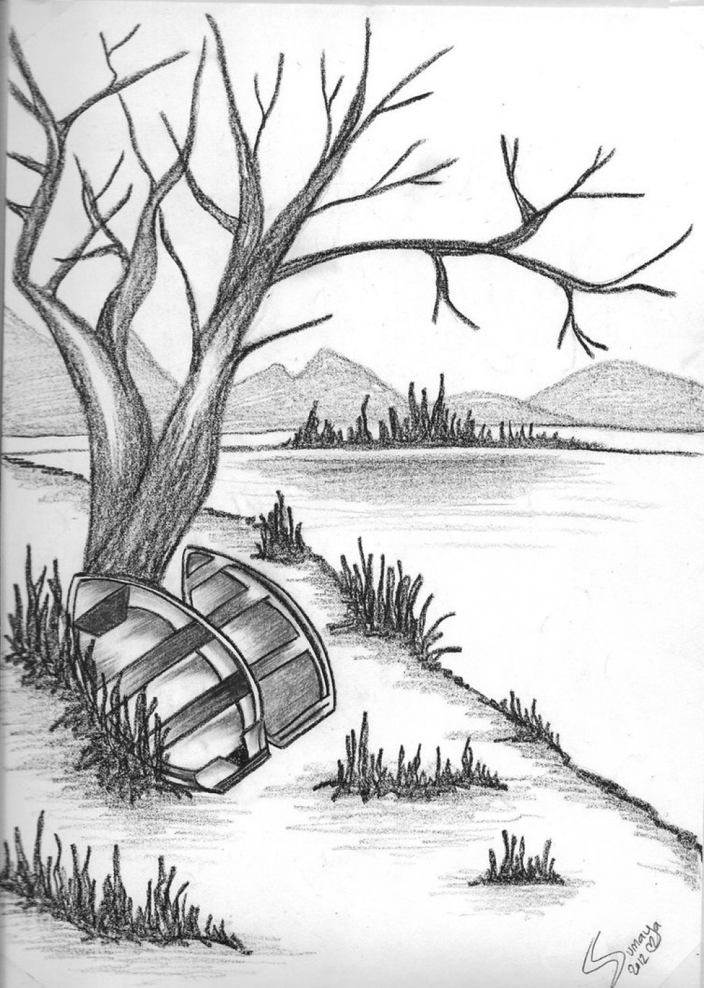 1025x1439 easy sketches of nature nature of pencil drawing simple pencil pencil sketches of nature