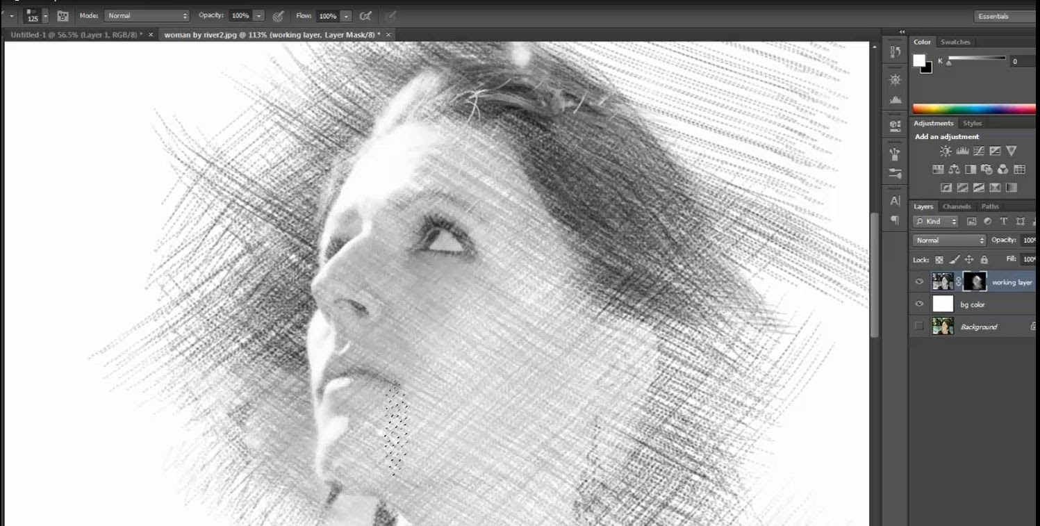 1497x757 pencil drawing sketch effect photoshop pencil sketch effect