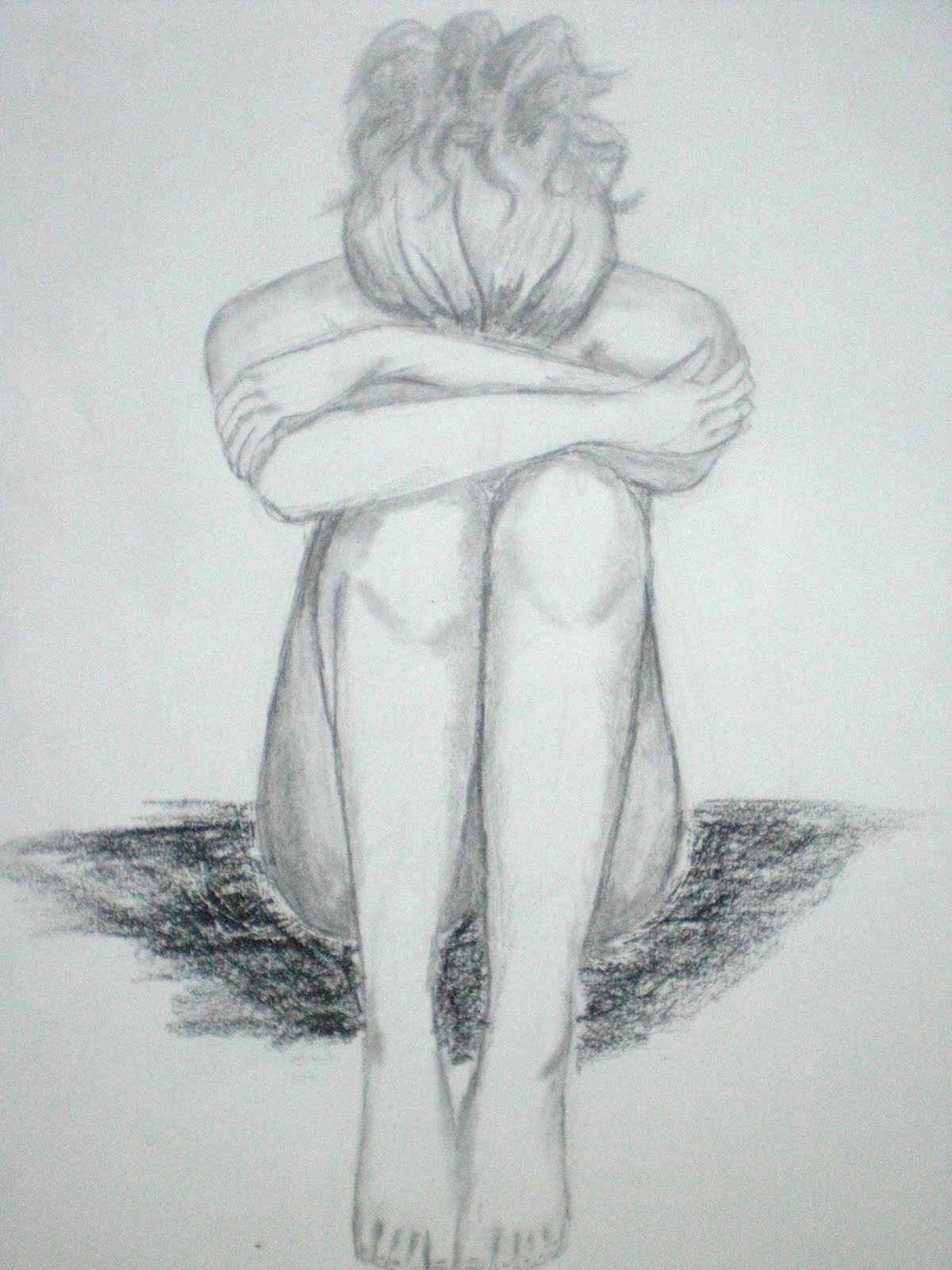 1200x1600 Lonely Girl Images Pencil Sketch Sad Girl Sketch Pic Pencil Sketch - Sad Girl Sketch