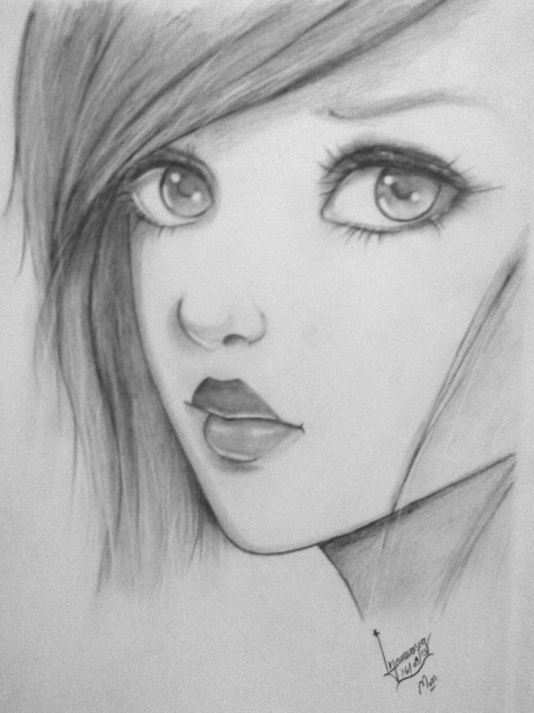 774x1032 Pencil Drawing Ideas Beginners Easy Pencil Drawings Of Sadness Sad - Sad Girl Sketch