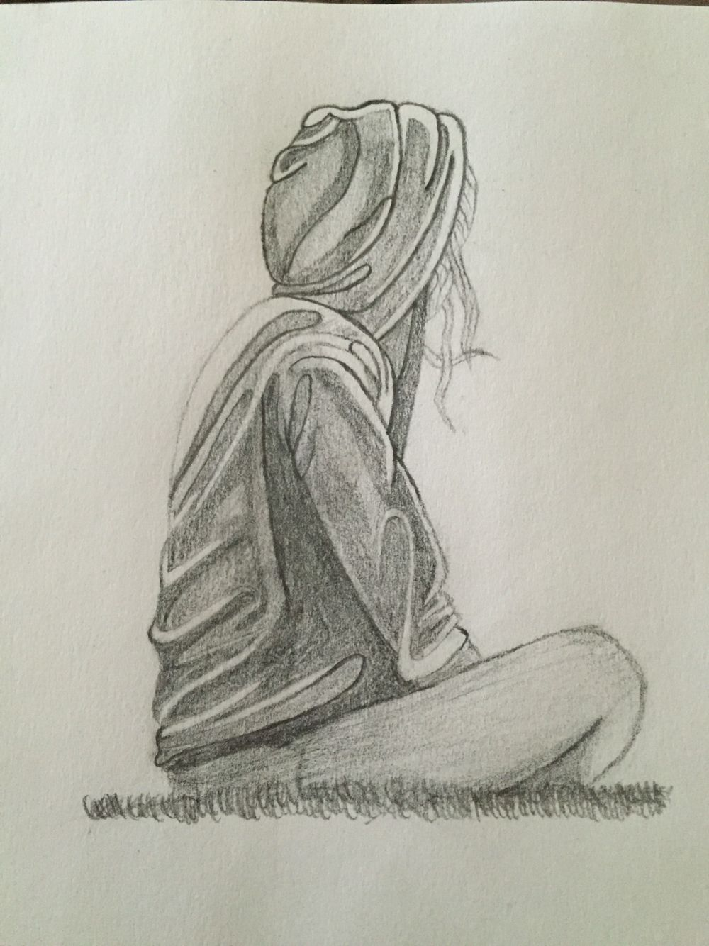 1000x1334 Depression Sketch Sketches Drawings, Sketches And Art - Sad Girl Sketch