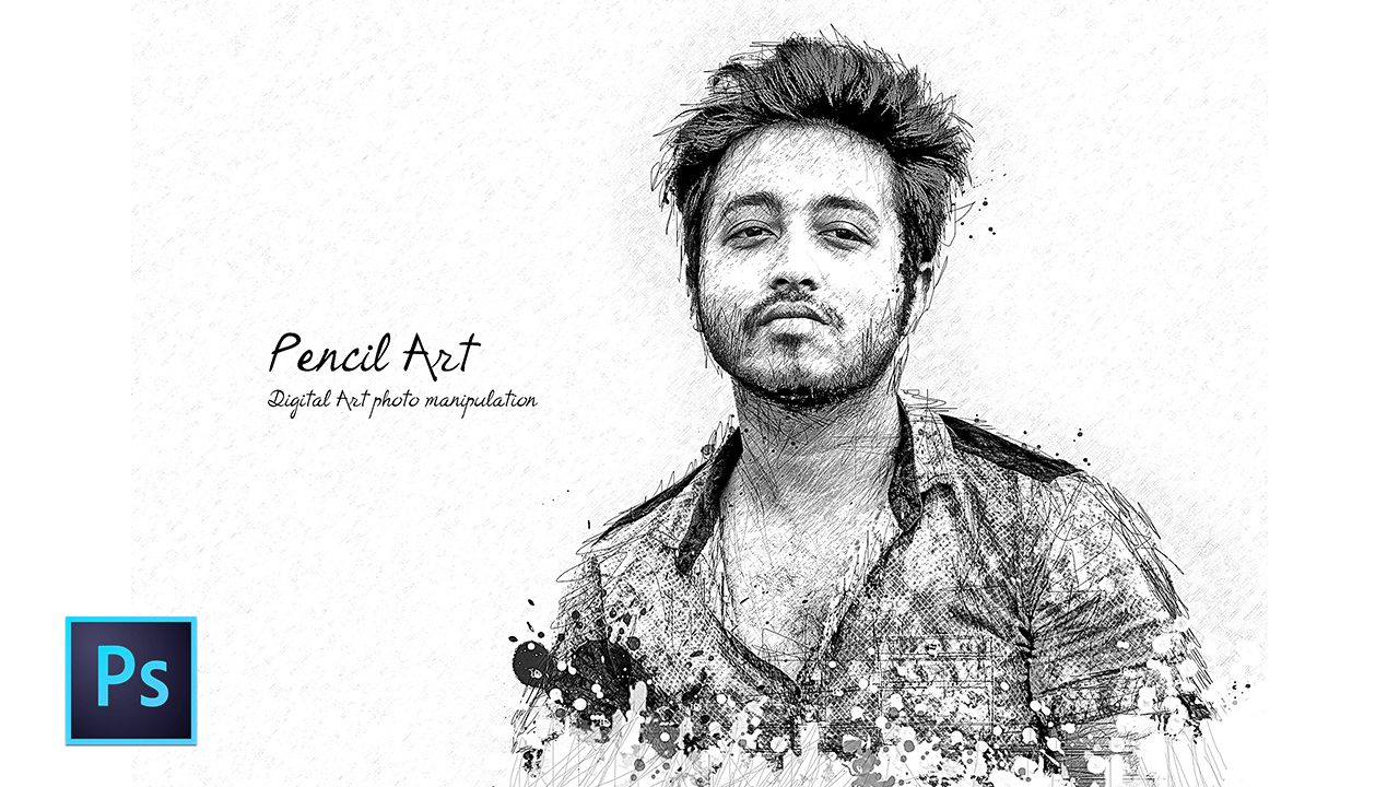 1280x720 pencil sketch art photoshop tutorial artistic pencil sketch effect sketch effect