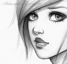 Sketch Of Cartoon Girl