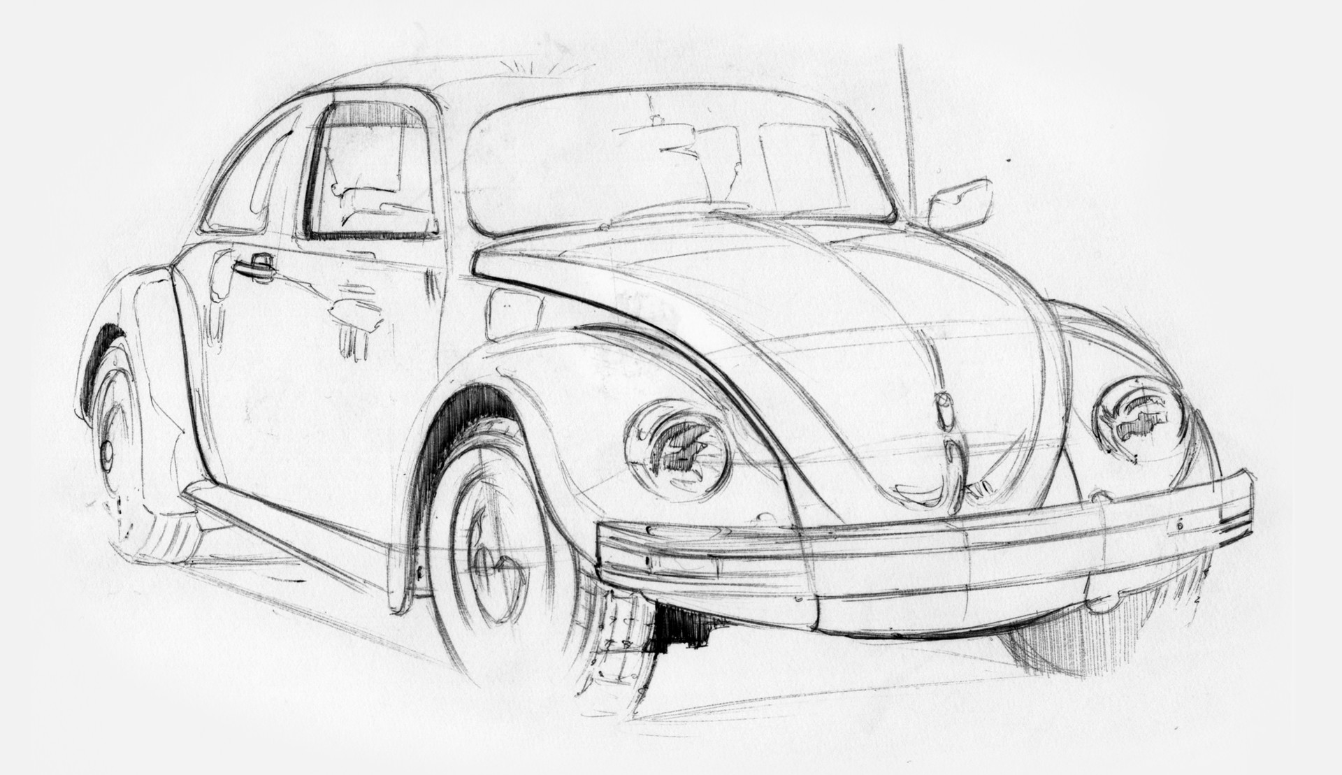 Vw Beetle Sketch At Paintingvalley Com Explore Collection Of Vw Beetle Sketch